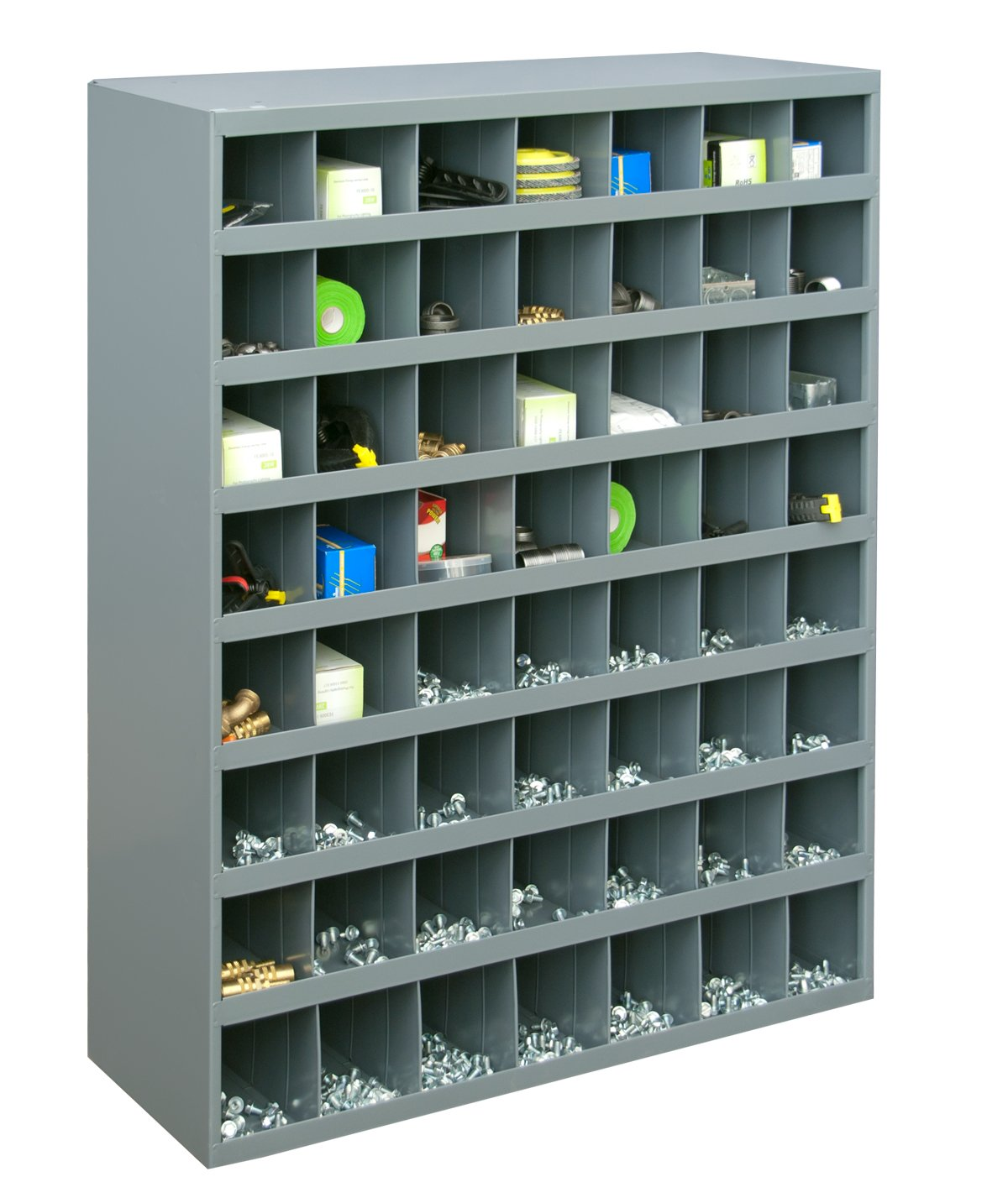 Durham 361-95 Gray Cold Rolled Steel 56 Opening Bin with Slope Self Design, 33-3 4 Width x 42 Height x 12 Depth