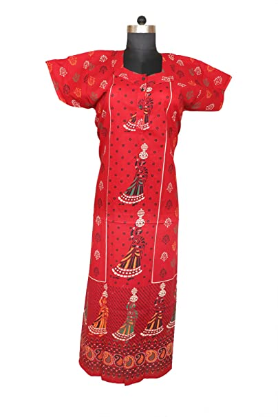 f300bfdef7d47 Image Unavailable. Image not available for. Color  Indian Women Cotton  Night Gown Bikni Cover Plus Size Indian Dress Long Skirt Maxi Bath Robe