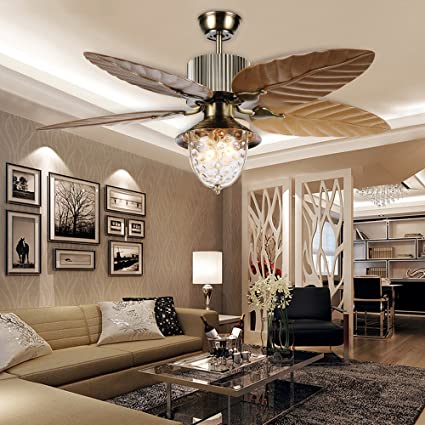 Tropicalfan tropical ceiling fan reversible with 5 palm leaf blades tropicalfan tropical ceiling fan reversible with 5 palm leaf blades remote control yellow 52 inch for aloadofball Images