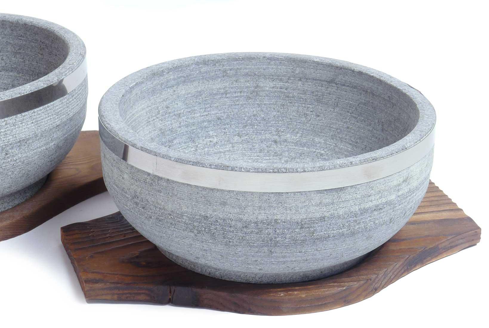 Spiceberry Home Granite Stone Dolsot Bibimbap Bowls, Case of 8 Bowls