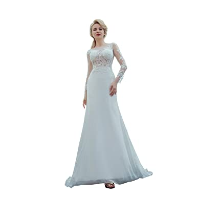 BAORUINA Wedding Dress Backless Cathedral Train Bridal Gowns Elegant ...