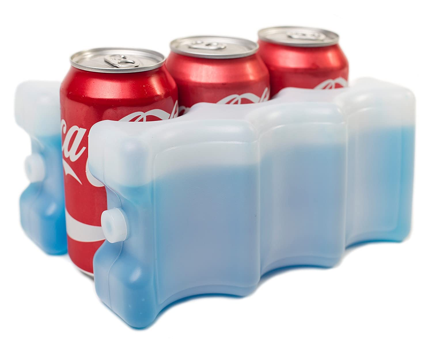Reusable Cooler that Keeps 6-12 Soda Cans Cold Solid Blue LYSB01NCNO23V-SPRTSEQIP Kleager Can Beer Ice Pack for Lunch Box 2 Piece Double Sided