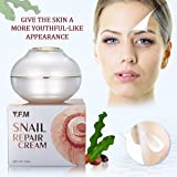Snail Repair Cream for Face, LuckyFine Anti Aging, Anti Wrinkle, Day Cream & Night Cream, for Moisturizer Dry Skin Repair Fine Lines Snail Face Cream with Snail Extract 1.76 oz