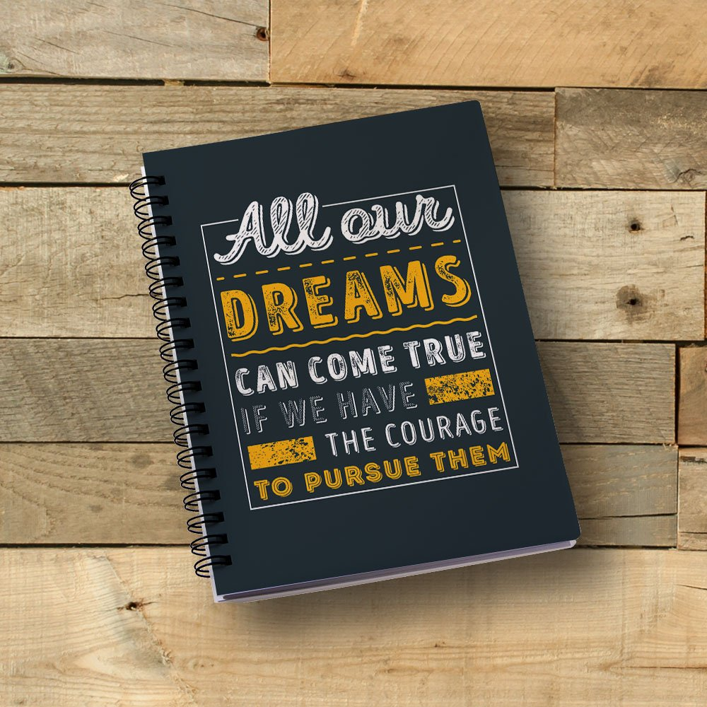 100yellow Inspirational Quote Printed Wire Bound Spiral Notebook/Designer  Covers Combined With Ruled Sheets Notebook- A5 Size: Amazon.in: Home &  Kitchen
