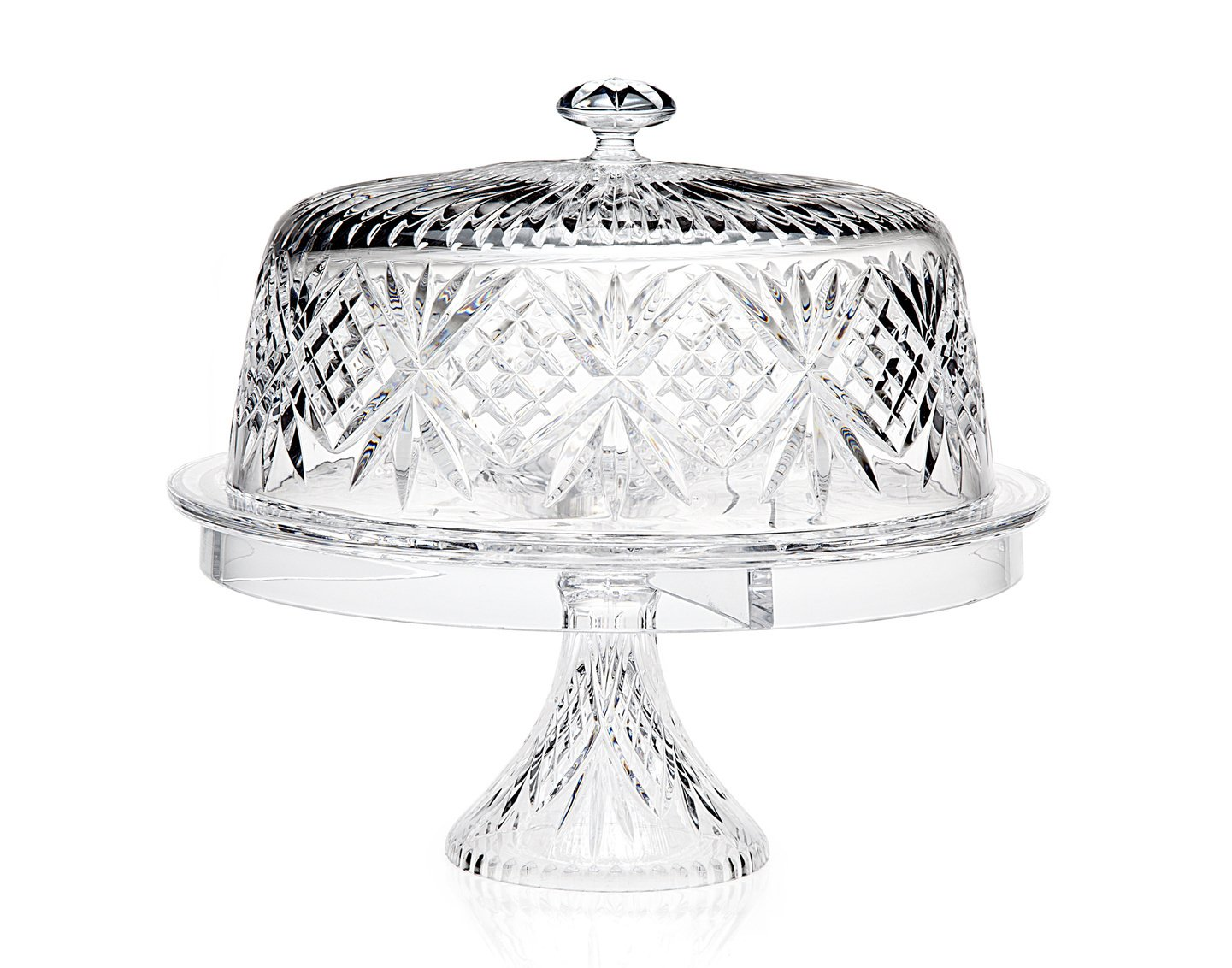 Godinger Glass 4-in 1 Multifunctional Cake -and-Dessert Serving Stand Bowl with Dome Lid Godinger Silver Art Co Ltd 25658