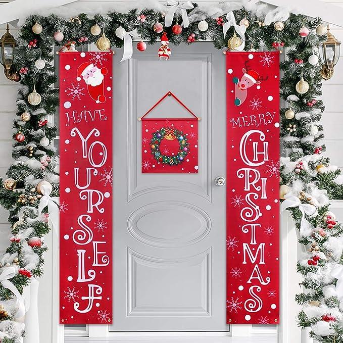 Amazon.com: Auihiay – Cartel de Navidad para decoración de ...