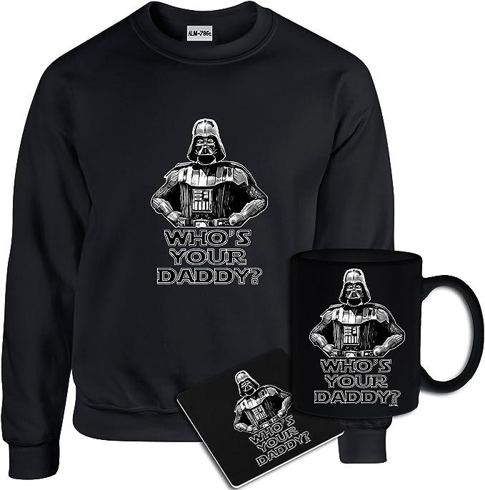 ALM786t-Mens Funny Printed Sweatshirts-Darth Vader No 1 DAD Star Wars Inspired