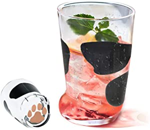 Novelty Coffee Mugs Funny Cat Claw Glass Cup Cute Cat Foot Claw Print Mug Cat Paw Cup Valentine's Day Birthday Festival Gifts for Friends Women & Men 10.6 oz (Black (1 Pcs))