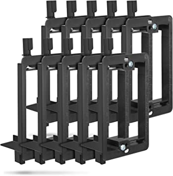 Wi4You Single Gang Low Voltage Mounting Bracket 5 Pack 1 Gang Mounting Bracket for Telephone Wires Speaker Cables Network Cables HDMI Cables Coaxial Cables Screws Included
