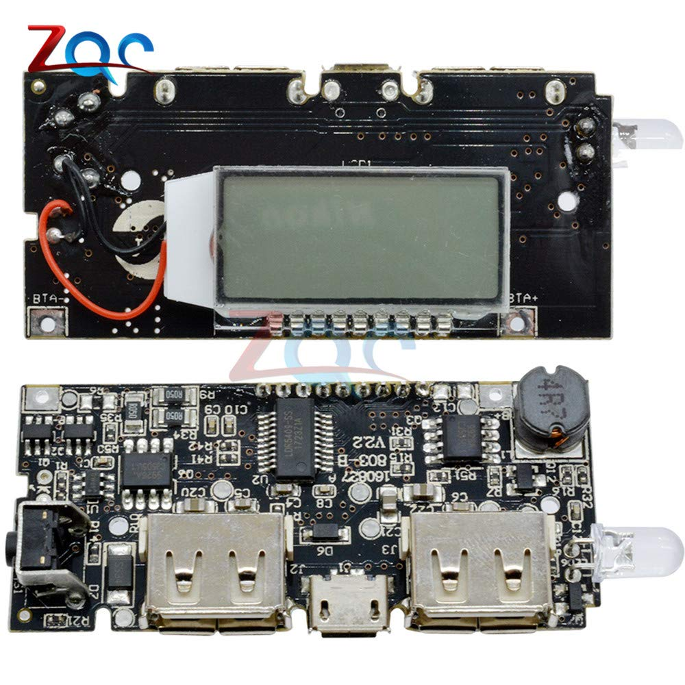 Dual USB 5V 1A 2.1A Mobile Power Bank 18650 Lithium Battery Charger Board Module Digital PCB