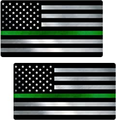 Thin BLUE//RED Line TATTERED Flag Sticker 2 Pack Police Fire Vinyl Decal #FS2056