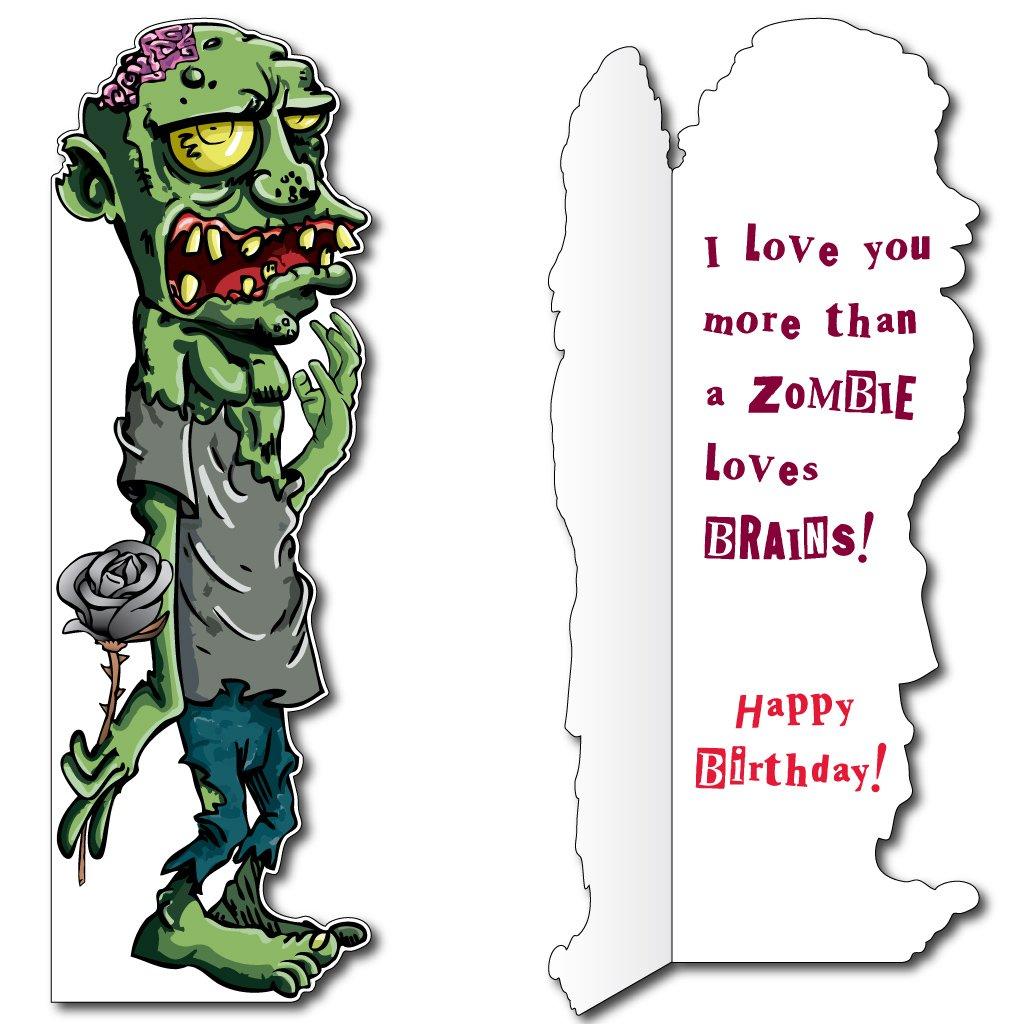 Amazon 58 zombie card wenvelope birthday life size amazon 58 zombie card wenvelope birthday life size greeting card health personal care kristyandbryce Choice Image