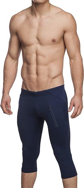 Amazon.com: De los hombres activo Yoga pantalones capris ...
