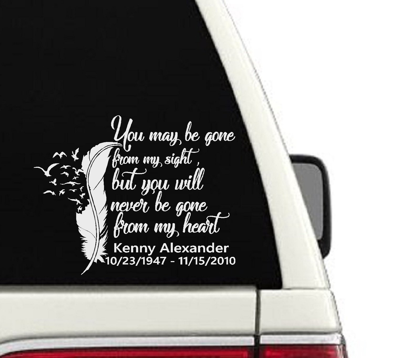 In Loving Memory Car Decals >> Amazon Com In Loving Memory Car Decal Cd16 Handmade