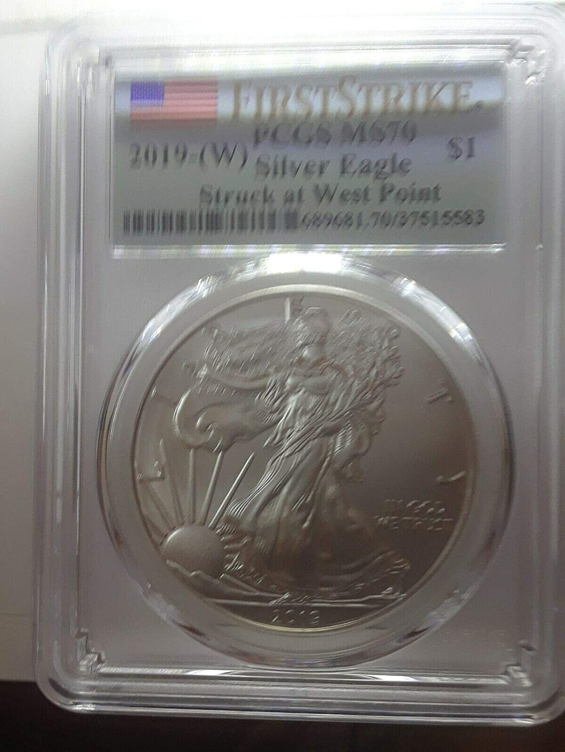 2016 1oz Silver American Eagle $1 PCGS MS70 30th Anniversary First Day West Poin