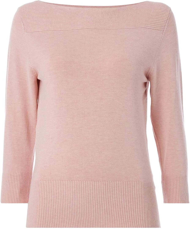 Ladies Boat Neck Smart Formal Everyday Casual Classy Lightweight Plain Knitwear Sweater Pullover Sweatshirt Autumn Winter Roman Originals Women Jumper