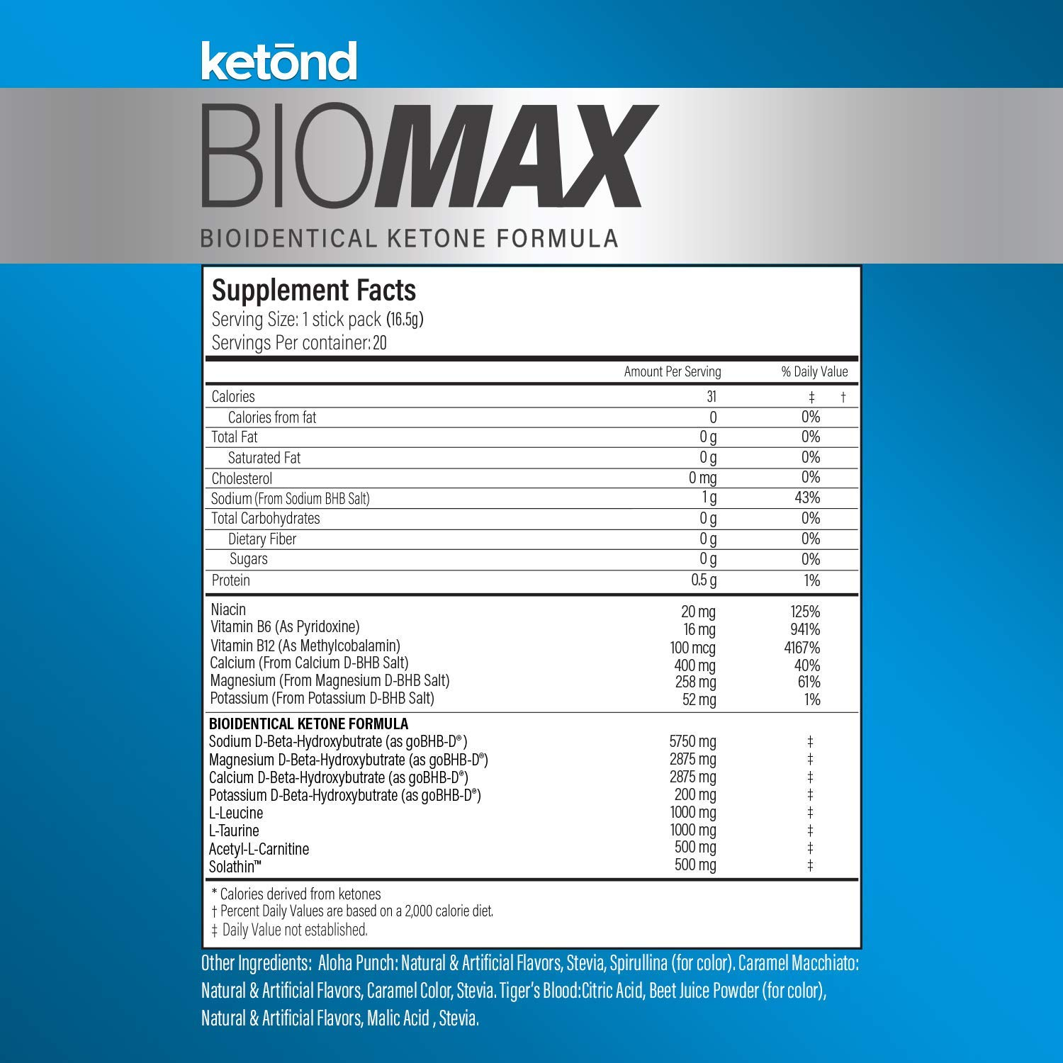 Ketōnd BioMAX - 20 'on the go packs' 11.7g of goBHB-D - the first of its kind all-natural ketone that is BIOLOGICALLY IDENTICAL to the ketones your body makes! (Aloha Punch) by Ketond Nutrition (Image #5)