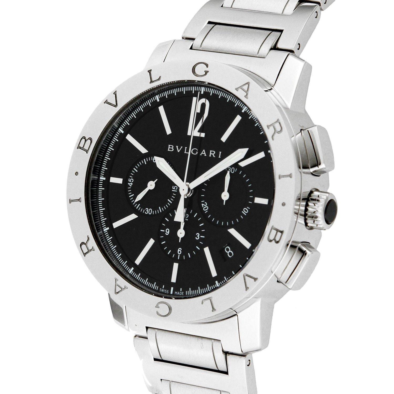 Bvlgari Bulgari negro Dial Automático Cronógrafo Reloj Hombres bb41bssdch: Amazon.es: Relojes