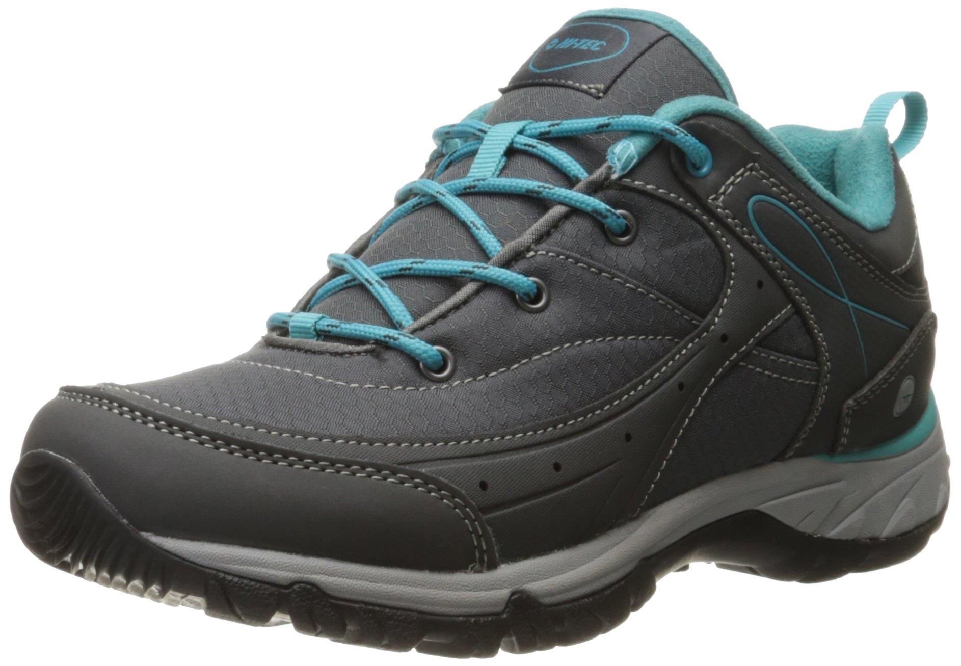 Hi-Tec Women's Equilibrio Bijou Low I Hiking Shoe, Charcoal/Tile Blue, 7 D US