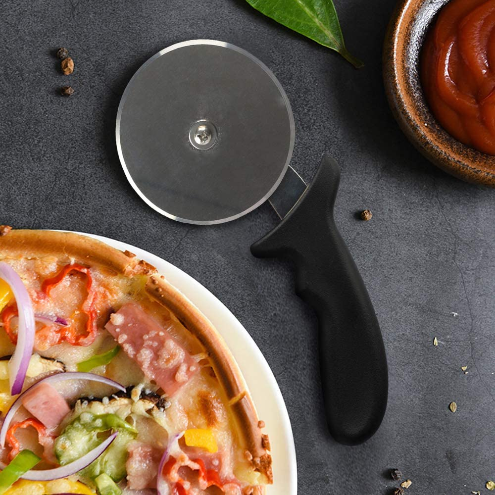 Yinghezu 4-Inch Super heavy 173g Stainless Steel Pizza Cutter Wheel, Sharp Cutters, Pizza Wheel, Pizza Slicer - For Pizza Lovers Support dishwasher for easy cleaning: Kitchen & Dining