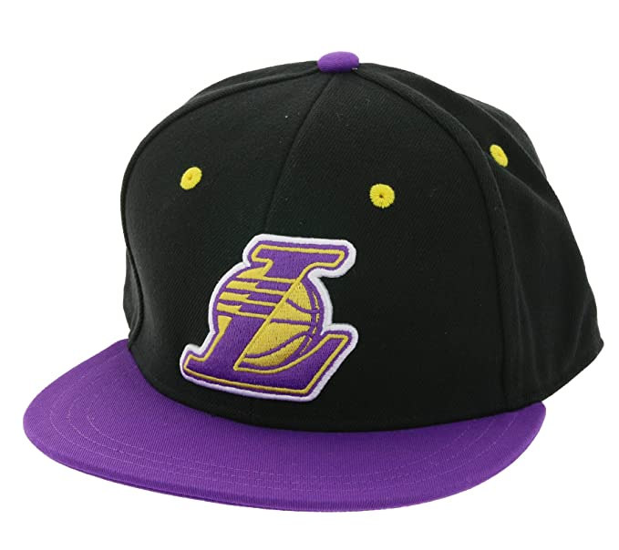 Gorra adidas - Nba Fitted Los Angeles Lakers Negro/Morado M: Amazon.es: Ropa y accesorios