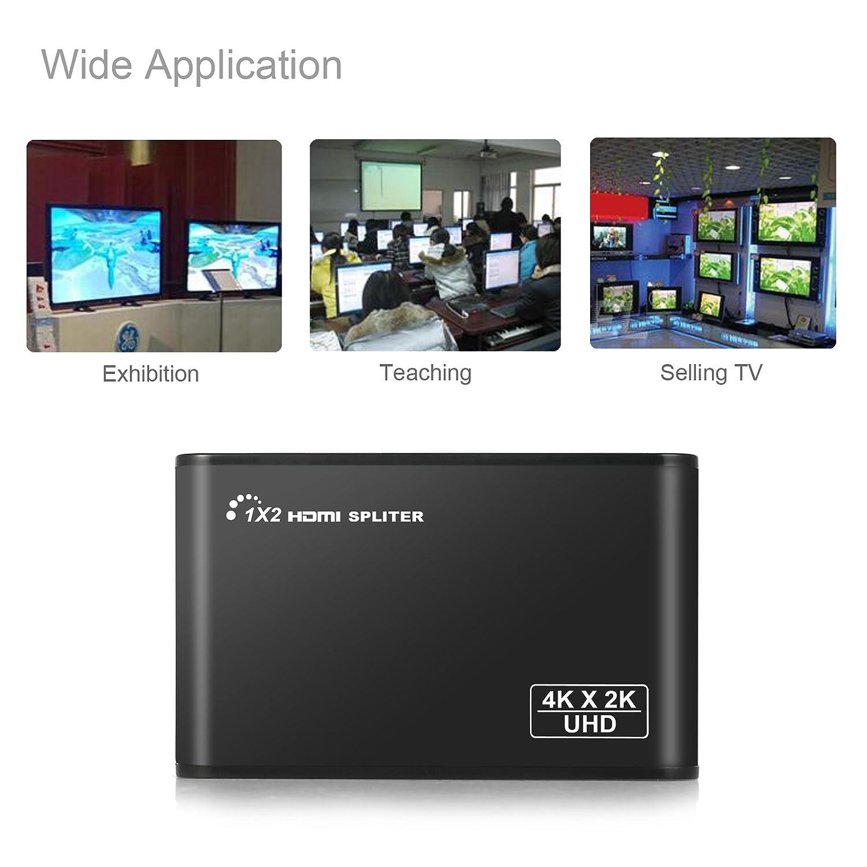 Proster HDMI 2.0 Splitter 1 Input 2 Output HDCP 2.2