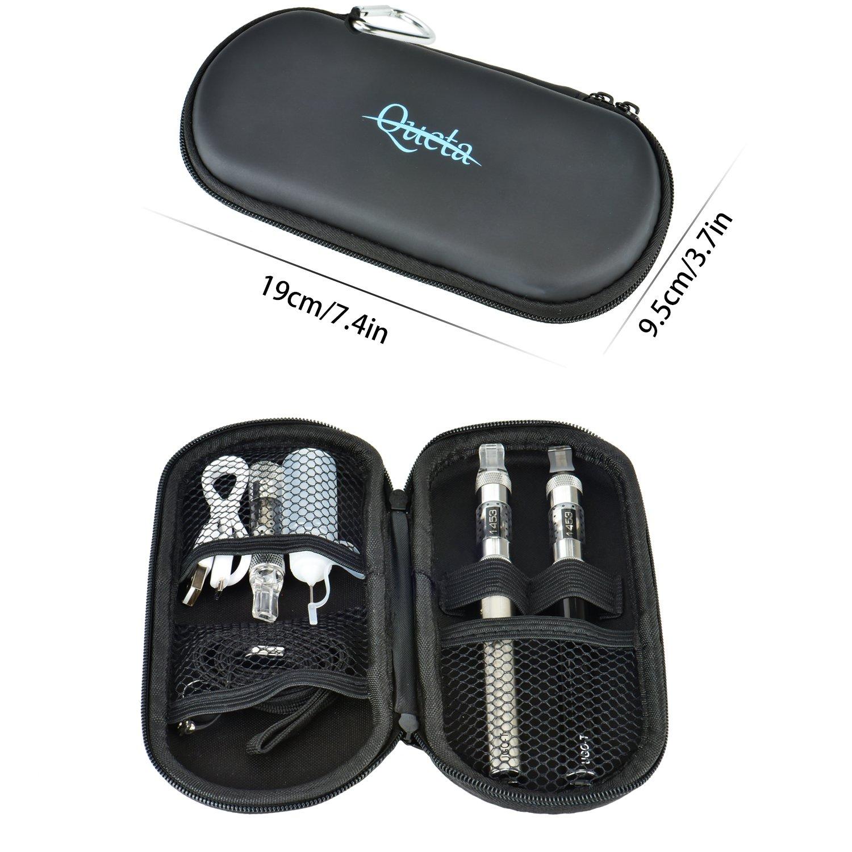Queta 2PCS Cigarro Electronico Vapor - Batería Recargable 1100mAh/Vaporizador Transparente 1,6ml/0 Nicotina: Amazon.es: Salud y cuidado personal
