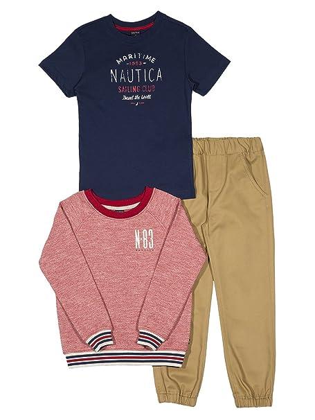Amazon.com: Nautica Boys francés Terry Pullover, Tee y de ...