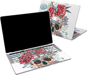 Lex Altern Vinyl Skin for MacBook Air 13 inch Mac Pro 16 15 Retina 12 11 2020 2019 2018 2017 Red Floral Flower Sugar Skull Blue Roses Cactus Laptop Cover Keyboard Decal Sticker Touch Bar Design