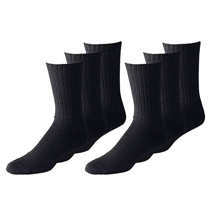 70b3b9af02ecb Men s Classic Crew Socks Shoe Size 6 to 12 in Black and White - Bulk  Wholesale