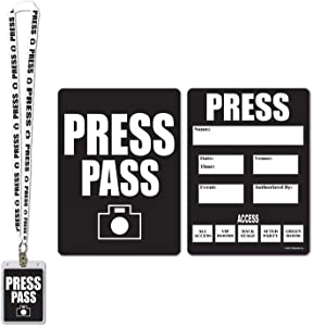 Beistle 57879 Press Party Pass, 25-Inch