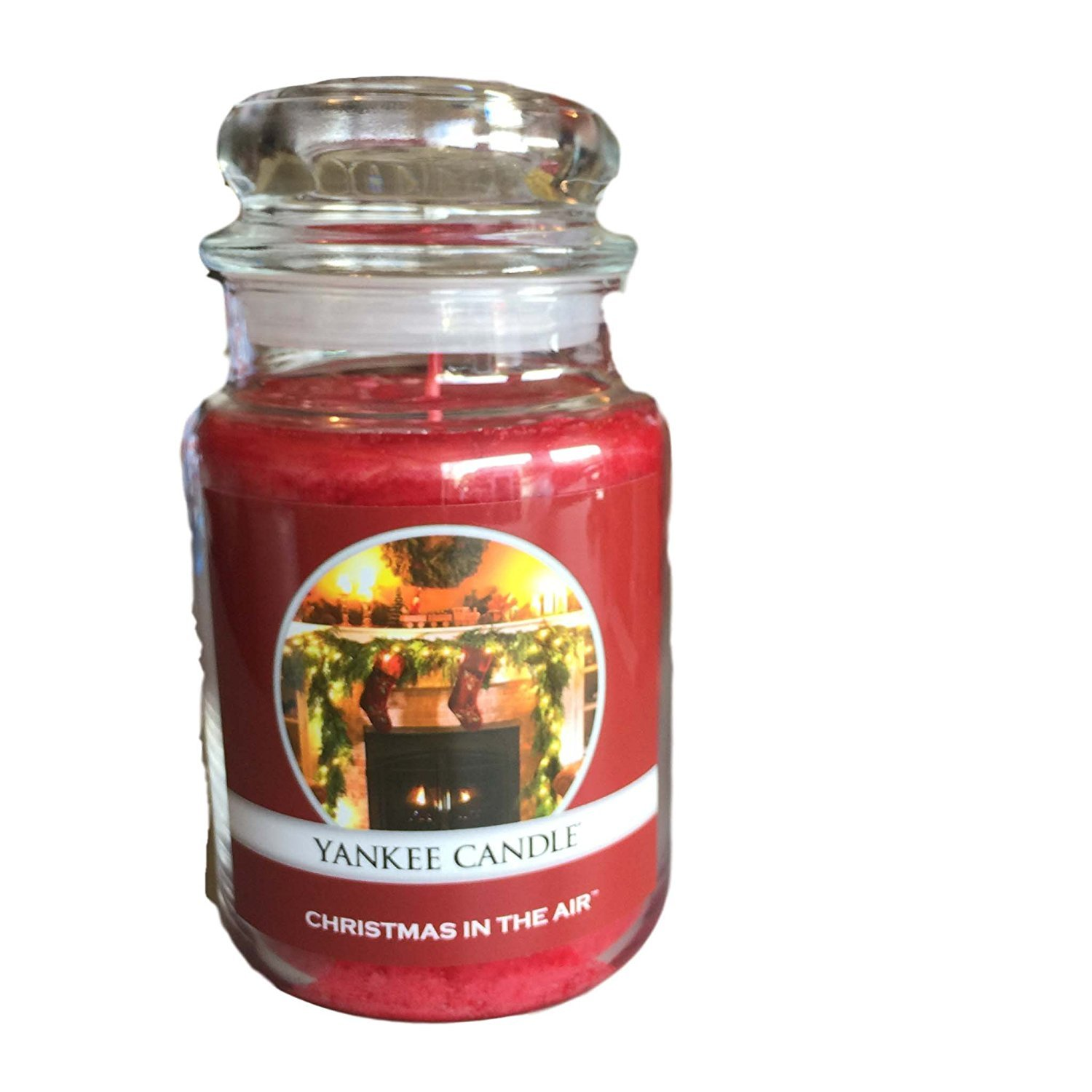 Yankee Candle Christmas in the Air Cinnamon Berry Swirl Large Jar Candle 22 oz