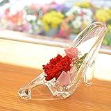 [florence du] プリザーブドフラワー 赤カーネーション&ピンクバラ ハイヒールアレンジメント ガラスの靴 花 ギフト フラワーギフト 結婚 誕生日 プレゼント シンデレラ プレゼント 母の日 ギフト 母の日のプレゼント