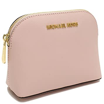 64508369230b Amazon.com   MICHAEL Michael Kors Cindy Small Travel Cosmetic Pouch in  Ballet Pink   Beauty
