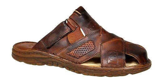 Cómodas Sandalias Hombres Cuero Búfalo Genuino Calzado Zapatos Ortopédicos Modelo-877 Btt8DaQ