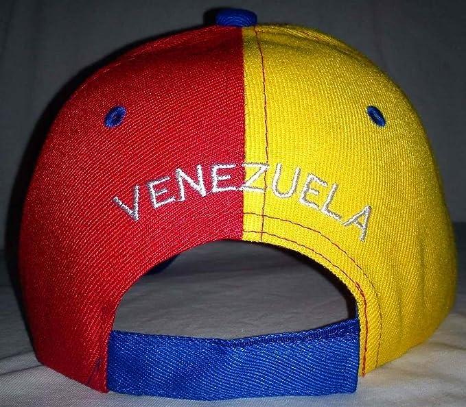Gorra de Venezuela Tricolor bandera sombrero Capriles 3 pcs unidades): Amazon.es: Jardín