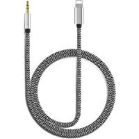 [Apple MFi Certified] Aux Cord for iPhone, Lightning to 3.5mm Nylon Braided Audio Stereo Cable for iPhone 11/11 Pro/XS…