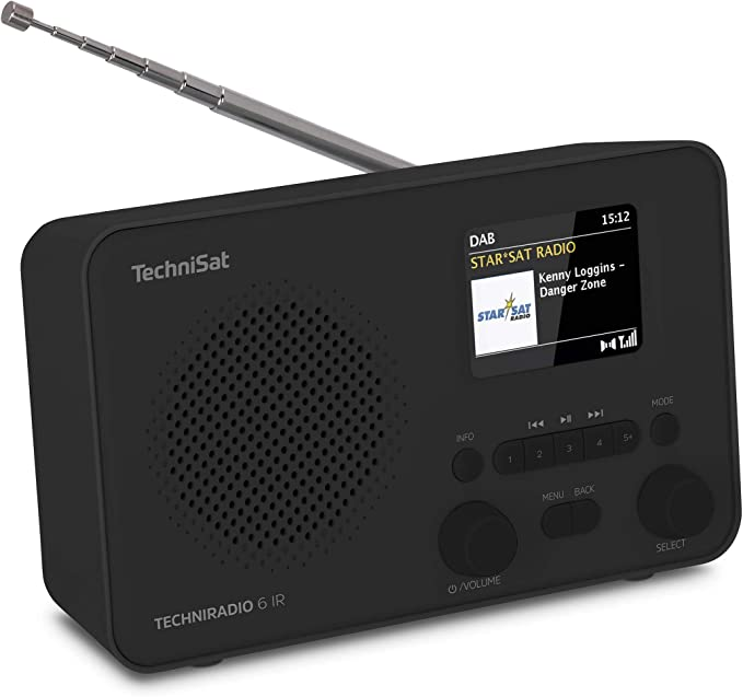 Technisat Techniradio 6 Ir Portables Internetradio Dab Ukw Wlan Bluetooth Farbdisplay Wecker App Steuerung Favoritenspeicher 3 Watt Rms Schwarz Heimkino Tv Video