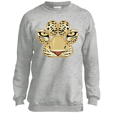 4fb51a7b6 Amazon.com  White Tiger Paw Face Crewneck Sweatshirt For Men Women ...