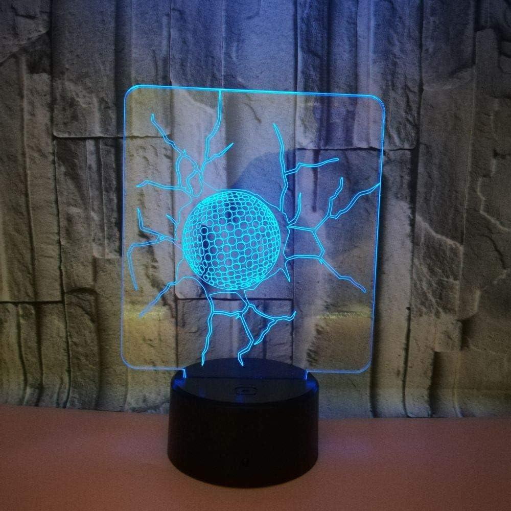 YUN Night Light@ 3D Lámpara LED Óptico Luz Nocturna 7 Cambio De Color con Acrílico Flat & ABS Base & USB Cargador De Cambiar Toca Lámpara De Escritorio Lámpara De Mesa, Tenis