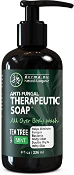 Antifungal Antibacterial Soap & Body Wash - Natural Fungal Treatment with