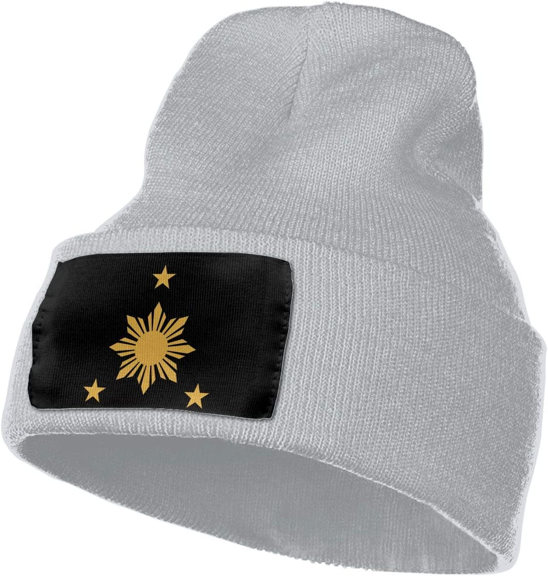 Filipino Stars and Sun Men/&Women Warm Winter Knit Plain Beanie Hat Skull Cap Acrylic Knit Cuff Hat