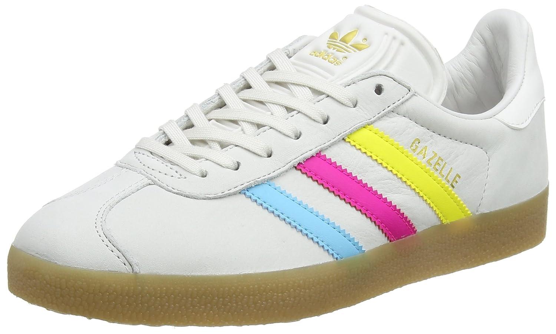 Adidas Originals Gazelle, Zapatillas de Deporte Unisex Adulto 46 EU|Varios Colores (Vintage White -St/Bright Cyan/Shock Pink)