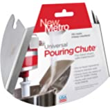 New Metro Design Universal Pouring Chute for Use with Stand Mixers with Metal Bowls, Stainless Steel