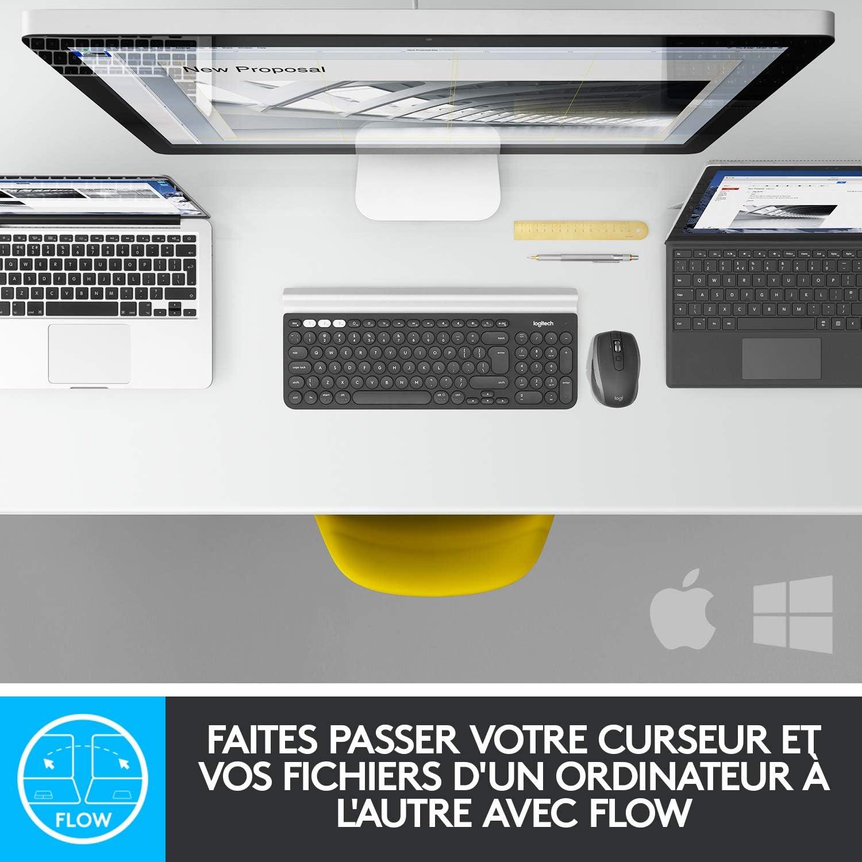 Rechargeable 2,4 GHz//Bluetooth Noir Molette de Contr/ôle Contextuel Logitech Craft Clavier sans fil Clavier QWERTY Italien Multidispositifs PC//Mac//Portable Touches R/étro/éclair/ées Automatiques