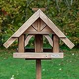 vogelhaus aus birkenholz futterstation vogelfutterhaus garten balkon terrasse garten. Black Bedroom Furniture Sets. Home Design Ideas