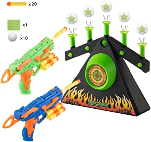 DoitY Electric Targets for Shooting, Hover Shooting Target Compatible with Nerf Toys, including 2 Blaster Guns for Beginners