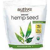 Nutiva Organic Raw Shelled Hemp Seed, USDA, Non-GMO, Non-BPA, Whole 30 Approved, Vegan, Gluten-Free & Keto, 10g Protein and 1