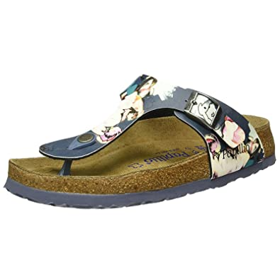 cheap for discount 8da55 84035 Papillio Womens by Birkenstock Gizeh Painted Bloom Navy ...