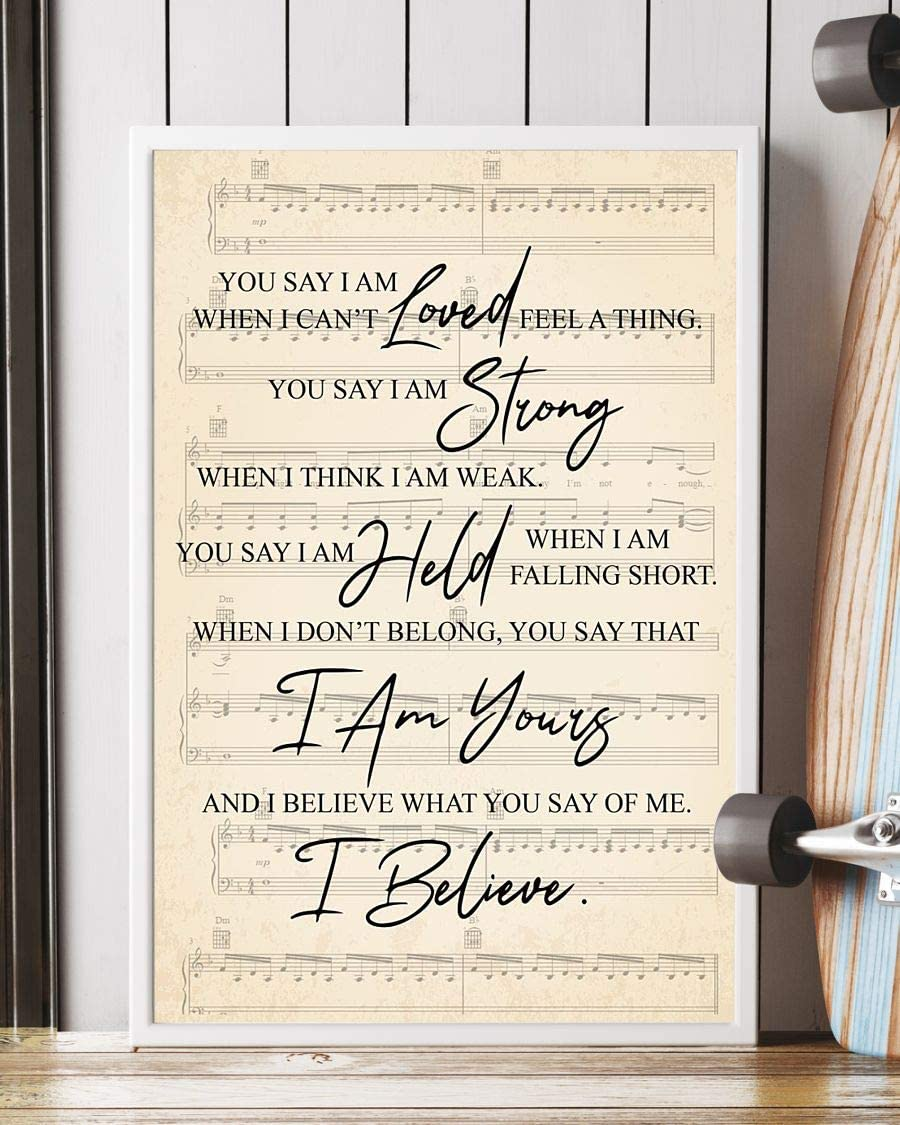 Lauren Daigle You Say I Am Loved When I Can/'t Feel A Thing Portrait Poster
